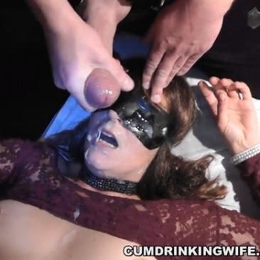 Bukkake parti egy amatőr feleségnek